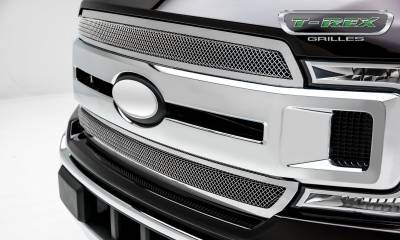 T-REX Grilles - 2018-2020 F-150 XLT, Lariat Upper Class Grille, Polished, 1 Pc, Overlay/Insert - PN #54710 - Image 2