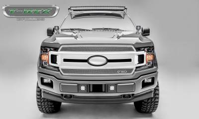 Upper Class Series Grilles - T-REX Grilles - T-REX Ford F-150 - Upper Class Series - 2 PC Main Grille Overlay / Insert with Polished Stainless Steel Finish - Pt # 54710