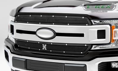 T-REX Grilles - 2018-2019 F-150 XLT, Lariat X-Metal Grille, Black, 2 Pc, Insert, Chrome Studs - PN #6715691 - Image 3