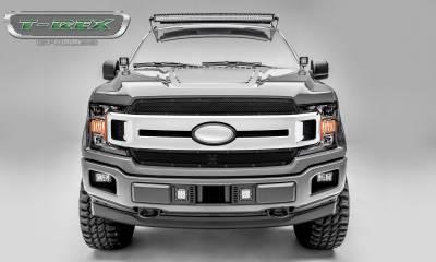 Stealth Metal Grilles - T-REX Ford F-150 - X-Metal STEALTH Series - 2 PC Main Grille Overlay / Insert - Black Studs with Black Powdercoat Finish - Pt # 6715691-BR