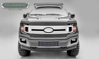 Clearance - T-REX Grilles - T-REX Ford F-150 - Billet Series - 2 PC Main Grille Overlay / Insert with Polished Aluminum Finish - Pt # 20571