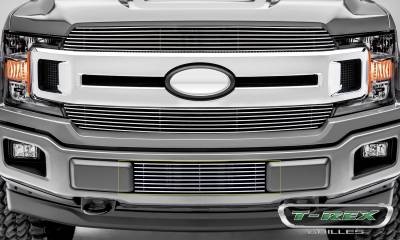 Clearance - T-REX Grilles - T-REX Ford F-150 - Billet Series - Bumper Grille Overlay with Polished Aluminum Finish - Pt # 25571
