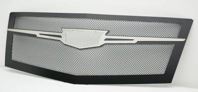 T-REX Grilles - 2015 Escalade Upper Class Series Main Grille, Black with Brushed Center Trim Piece, 1 Pc, Replacement - PN #51184 - Image 3