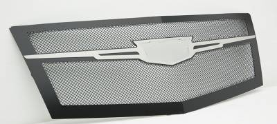 T-REX Grilles - 2015 Escalade Upper Class Series Main Grille, Black with Brushed Center Trim Piece, 1 Pc, Replacement - PN #51184 - Image 4