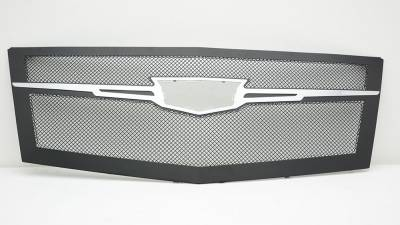 Clearance - Cadillac Escalade Upper Class Main Grille Replacement - Black w/ Chrome Plated Center Trim Piece - Pt # 51185