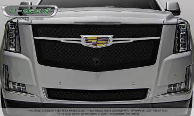 Upper Class Series Grilles - Cadillac Escalade Upper Class Main Grille Replacement - Black w/ Chrome Plated Center Trim Piece - Pt # 51185