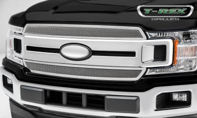T-REX Grilles - 2018-2020 F-150 XLT, Lariat Upper Class Grille, Polished, 1 Pc, Overlay/Insert - PN #54710 - Image 3