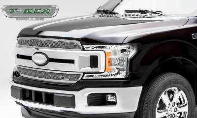 T-REX Grilles - 2018-2020 F-150 XLT, Lariat Upper Class Grille, Polished, 1 Pc, Overlay/Insert - PN #54710 - Image 4