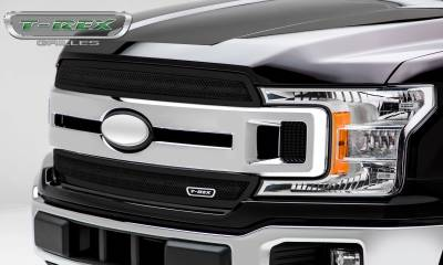T-REX Grilles - 2018-2019 F-150 XLT, Lariat Upper Class Grille, Black, 2 Pc, Overlay/Insert - PN #51711 - Image 3