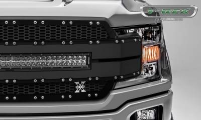 "T-REX Grilles - 2018-2019 F-150 Torch AL Grille, Black Mesh and Trim, 1 Pc, Replacement, Chrome Studs, Incl. (1) 30"" LED - PN #6315781 - Image 3"