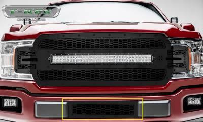 T-REX Grilles - 2018-2019 F-150 Limited, Lariat Stealth Laser X Bumper Grille, Black, 1 Pc, Overlay, Black Studs - PN #7725891-BR - Image 2