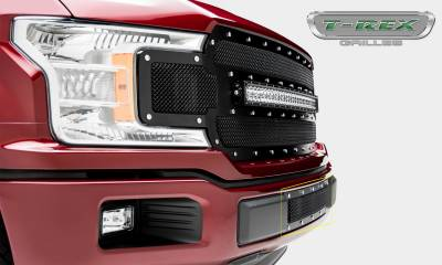 T-REX Grilles - 2018-2020 F-150 Limited, Lariat X-Metal Bumper Grille, Black, 1 Pc, Overlay, Chrome Studs - PN #6725791 - Image 4