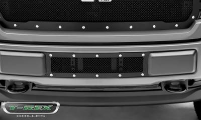 T-REX Grilles - 2018-2020 F-150 Limited, Lariat X-Metal Bumper Grille, Black, 1 Pc, Overlay, Chrome Studs - PN #6725791 - Image 5