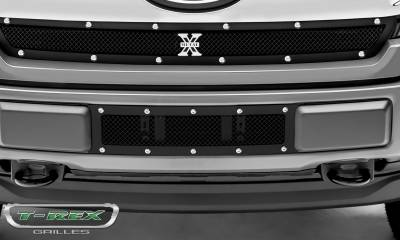 T-REX Grilles - 2018-2020 F-150 Limited, Lariat X-Metal Bumper Grille, Black, 1 Pc, Overlay, Chrome Studs - PN #6725791 - Image 6