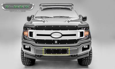 T-REX Grilles - 2018-2020 F-150 Limited, Lariat X-Metal Bumper Grille, Black, 1 Pc, Overlay, Chrome Studs - PN #6725791 - Image 7