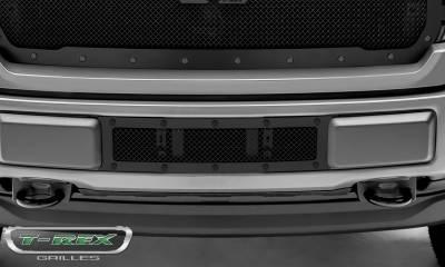 T-REX Grilles - 2018-2020 F-150 Limited, Lariat Stealth X-Metal Bumper Grille, Black, 1 Pc, Overlay, Black Studs - PN #6725791-BR - Image 3