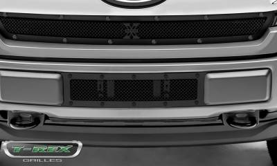 T-REX Grilles - 2018-2019 F-150 Limited, Lariat Stealth X-Metal Bumper Grille, Black, 1 Pc, Overlay, Black Studs - PN #6725791-BR - Image 4