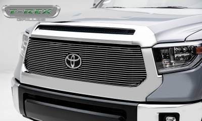 Billet Series Grilles - Toyota Tundra Billet Grille - Main Replacement w/ OE Logo Provision - 1 Pc, Polished Black Powdercoated Aluminum Bars - Pt # 20966