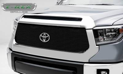 Billet Series Grilles - T-REX Grilles - Toyota Tundra Billet Grille - Main Replacement w/ OE Logo Provision - 1 Pc, Black Powdercoated Aluminum Bars - Pt # 20966B