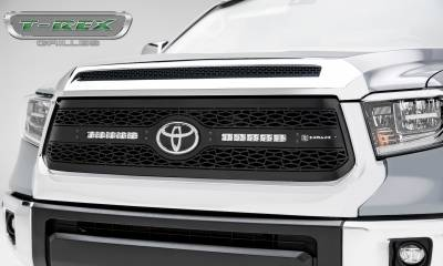 "ZROADZ Series Grilles - Toyota Tundra ZROADZ Grille - Main Replacement w/ OE Logo Provision - Laser Cut Steel w/ (2) 10"" LED Light Bars - Pc, Black Powdercoated - Pt # Z319661"