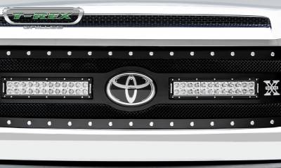 "T-REX Grilles - 2018-2019 Tundra Torch Grille, Black, 1 Pc, Replacement, Chrome Studs, Incl. (2) 12"" LEDs - PN #6319661 - Image 5"
