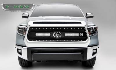 "T-REX Grilles - 2018-2019 Tundra Torch Grille, Black, 1 Pc, Replacement, Chrome Studs, Incl. (2) 12"" LEDs - PN #6319661 - Image 3"
