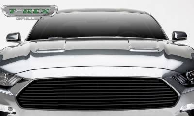 T-REX Grilles - Ford Mustang GT - Billet Grille - Main, Overlay with Black Powder Coated Finish - Pt #6215501