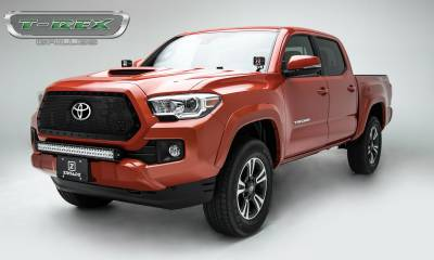 T-REX Grilles - 2018-2019 Tacoma Stealth X-Metal Grille, Black, 1 Pc, Insert, Black Studs - PN #6719511-BR - Image 2