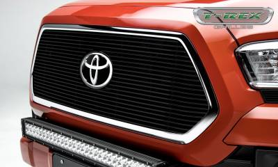 Billet Series Grilles - T-REX Grilles - Toyota Tacoma - BILLET Series - Main Insert - Grille - Black - Accepts factory TSS logo - Part# 20950B