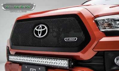 T-REX Grilles - 2018-2019 Tacoma Upper Class Grille, Black, 1 Pc, Insert - PN #51951
