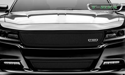 T-REX Grilles - 2015-2019 Charger Upper Class Grille, Black, 1 Pc, Overlay - PN #51480 - Image 4