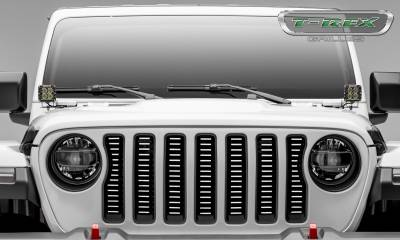 T-REX Grilles - Jeep Gladiator, JL Billet Grille, Brushed, 1 Pc, Insert,Does Not Fit Vehicles with Camera - PN #6204933 - Image 5