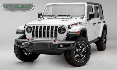 T-REX Grilles - Jeep Gladiator, JL Round Billet Grille, Black, 1 Pc, Insert, without Forward Facing Camera - PN #6204941 - Image 3