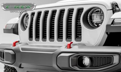 T-REX Grilles - Jeep Gladiator, JL Round Billet Grille, Black, 1 Pc, Insert, without Forward Facing Camera - PN #6204941 - Image 2