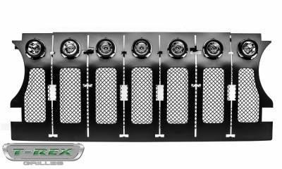 "T-REX Grilles - Jeep Gladiator, JL Torch Grille, Black, 1 Pc, Insert, Incl. (7) 2"" LED Round Lights - PN #6314941 - Image 8"