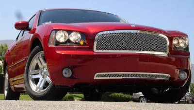 Upper Class Series Grilles - T-REX Grilles - Dodge Charger HYBRID Series Grille - w/Wire Mesh - Pol. - Pt # 70474