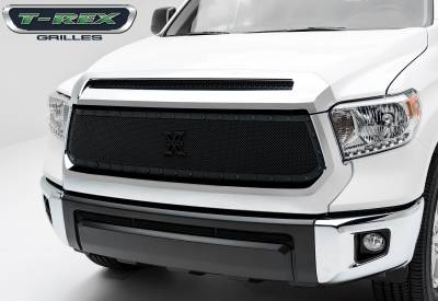 Stealth Series Grilles - T-REX Grilles - Toyota Tundra Stealth Metal Formed Mesh Replacement Main Grille 1 Pc. with Tactical Black Studs - Pt # 6719641-BR