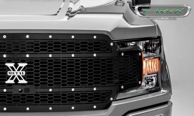 T-REX Grilles - 2018-2019 F-150 Laser X Grille, Black, 1 Pc, Replacement, Chrome Studs, Fits Vehicles with Camera - PN #7715891 - Image 3