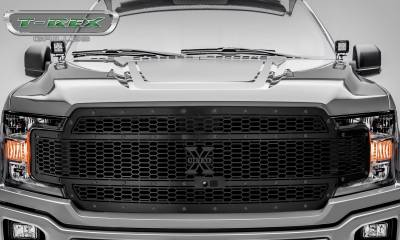 T-REX Grilles - 2018-2019 F-150 Stealth Laser X Grille, Black, 1 Pc, Replacement, Black Studs, Fits Vehicles with Camera - PN #7715891-BR - Image 2