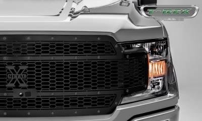 T-REX Grilles - 2018-2019 F-150 Stealth Laser X Grille, Black, 1 Pc, Replacement, Black Studs, Fits Vehicles with Camera - PN #7715891-BR - Image 3