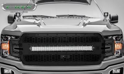 "T-REX Grilles - 2018-2019 F-150 Stealth Laser Torch Grille, Black, 1 Pc, Replacement, Black Studs, Incl. (1) 30"" LED, Fits Vehicles with Camera - PN #7315751-BR - Image 2"