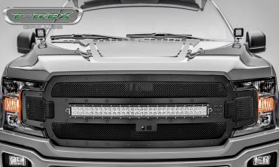 "T-REX Grilles - 2018-2019 F-150 Stealth Torch Grille, Black, 1 Pc, Replacement, Black Studs, Incl. (1) 30"" LED, Fits Vehicles with Camera - PN #6315751-BR - Image 2"