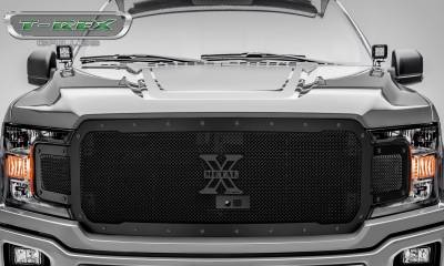 T-REX Grilles - 2018-2019 F-150 Stealth X-Metal Grille, Black, 1 Pc, Replacement, Black Studs, Fits Vehicles with Camera - PN #6715791-BR - Image 2
