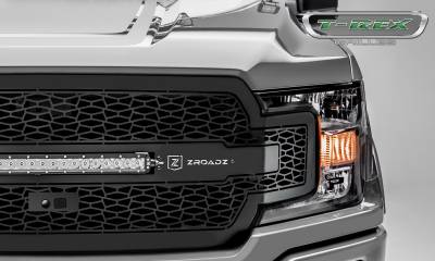 "T-REX Grilles - 2018-2019 F-150 ZROADZ Grille, Black, 1 Pc, Replacement, Incl. (1) 20"" LED, Fits Vehicles with Camera - PN #Z315811 - Image 3"