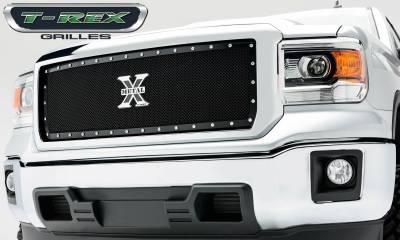 T-REX Grilles - 2014-2015 Sierra 1500 X-Metal Grille, Black, 1 Pc, Insert, Chrome Studs - PN #6712081 - Image 4