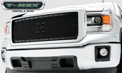 Stealth Series Grilles - T-REX Grilles - GMC Sierra X-Metal, Formed Mesh Grille, Main, Insert, 1 Pc, Black - Pt # 6712081-BR