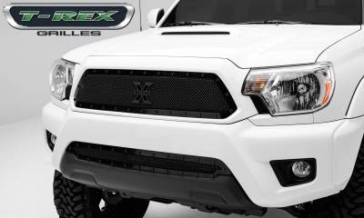 T-REX Grilles - 2012-2015 Tacoma Stealth X-Metal Grille, Black, 1 Pc, Insert, Black Studs - PN #6719381-BR