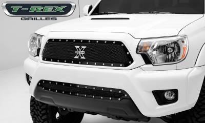 X-Metal Series Grilles - T-REX Grilles - Toyota Tacoma X-METAL Series - Studded Main Grille - ALL Black - Pt # 6719381
