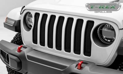 T-REX Grilles - Jeep Wrangler JL - Sport Series - Formed Mesh Grille - Installs behind factory grille - Black - Pt # 46493