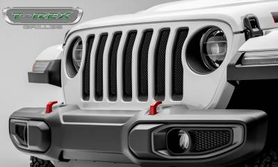 T-REX Grilles - Jeep Gladiator, JL Sport Series Grille, Black, 1 Pc, Insert, Does Not Fit Vehicles with Camera - PN #46493 - Image 2